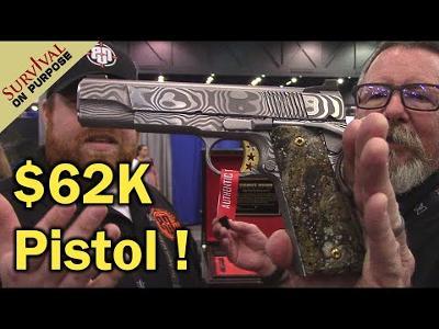Crazy $62,000 Pistol at Blade Show 2021!