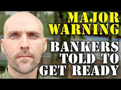 MAJOR WARNING! BANKERS TOLD TO GET READY! MARKET CORRECTION AND INFLATION EXPLOSION ON THE WAY