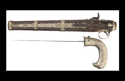 POTD: Pistol with a Back Up – Smyrna Percussion Dagger Pistol