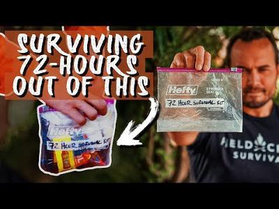 Fieldcraft Survival Presents: 72 Hour Survival Challenge with a QUART SIZE BAG!
