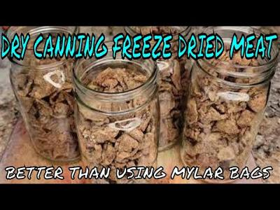 DRY CANNING MY FREEZE DRIED FOODS HOW MANY QT JARS DOES IT TAKE FOR THREE TRAYS OF FREEZE DRIED FOOD