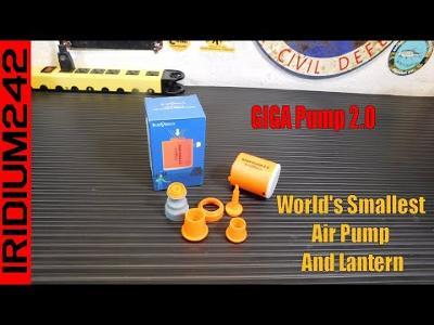 GIGA Pump 2 0 The World's Smallest Air Pump And Lantern