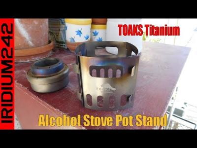 Handy Prepper Item: TOAKS Titanium Alcohol Stove Pot Stand