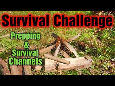 One Wood Bow Drill Challenge (all Prepping and Survival Channels Welcomed)