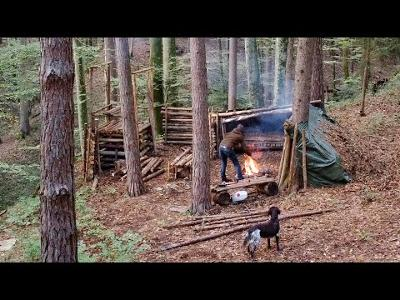Overnight in my SECRET Camp in the Woods!