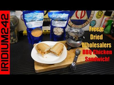 Survival Cooking:  BBQ Chicken Sandwiches With Freeze Dried Wholesalers!