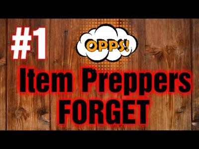 The Most Overlooked Item When Prepping For SHTF